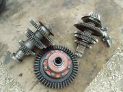 Farmall 340 Tractor Ih Transmission Matched Set Top Bottom Gears Shafts And Pinion