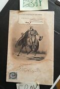 George Washington Steel Etching Autograph Print 1/2 Poste Stamp L Johnson And Co