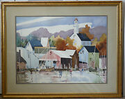 Original Watercolor By Athena Hatzopoulou Of Louisville Ky Gifted Work 32 X 39