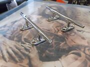 Pair Of New Old Stock Vintage Stainless Steel Boat Cleats - Hereshoff Style 5