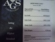 Ags Certified .55ct G/vs1 Round Diamond Same Company That Hearts On Fire Uses