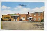 Tedand039s Bowling Alley And Bar Green Bay Vintage Linen Advertising Pc Ca. 1947