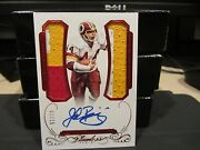 Panini Flawless Ruby On Card Autograph Jersey Redskins John Riggins 02/15 2015
