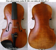 Fine Old German Violin W. Ott -see Video - Rare Antique Master バイオリン скрипка 803