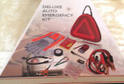 Auto Kit Emergency New Berkshire Jumper Cables Flashlight Gloves Basic First Aid