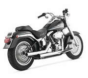 Vance And Hines Straightshots Exhaust For Harley 1986-11 Fxs/fxst/flst/ Flstse New