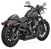Vance And Hines Shortshots Staggered Exhaust Black Harley Xl Sportster 2014-2018