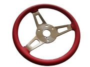 Pg Classic 256-bs-r Mopar Abce-body Leather Tuff Steering Wheel Red