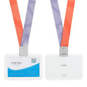 Horizontal Two Card Clear Id Card Holder With Personalized Lanyard 50pcs/lot