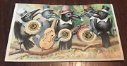 Black Crowe's String Band 1800's Jandp Coats Sewing Thread Black Trade Card