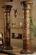 Huge 82 Egyptian Luxor Columns With Lotus Leaf Capitols And Shelves Furniture