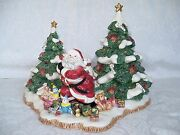 Fitz And Floyd Presidentand039s Collection Limited Edition Christmas Santa Centerpiece