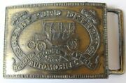 Ford Model T Bronze Metal Advertising Belt Buckle With Serial Number