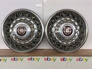 85 86 87 88 89 90 91 92 93 94 95 Cadillac 14andrdquo Wire Spoke Hubcaps 4576415 Nice
