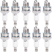 10pcs Spark Plug L7t For Hedge Trimmer Lawnmover Blower Brushcutter Chainsaw