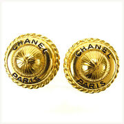 Earrings Gold Woman Authentic Used Y1769