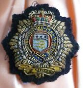 Vintage Royal Logistic Corps Cloth Badge Patch Qc Bullion Wire Used