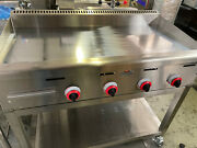 Chrome Platted Mirror Griddle Brand Name Fat Chef Natural Gas Or Lpg
