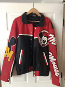 Vintage Disney Mickey Inc Leather Mickey Mouse Jacket Full Face On Back Xl