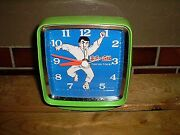 Vintage Judo Straight Line Mainspring Table Clock Collection Rare