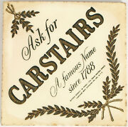 Antique Ask For Carstairs Whiskey Nyc Distilling Co Gold Leaf Ceramic Tile Bar