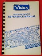 Videx Videoterm Ownerand039s Reference Manual Vintage 1980 Apple Computer Minty Rare