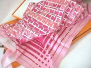 Hermes Carre 90 Scarf Stole Pink Faubourg 24 Silk Horse Japan L/d Auth New Rare