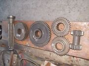 Farmall 400 450 Tractor Transmission Top Set Of Ih Drive Gears Shaft And Reverser