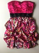My Michelle Strapless Dress Pink Padded Tie Back Formal/prom Sz 5 Nwt