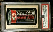 1973 Topps Wacky Packages Minute Mud 2nd Series Ludlow Black Psa 8 Nm-mt Card