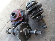 Farmall 400 450 Tractor Complete Set Up Low Pinion Ih Transmission Gears And Shaft
