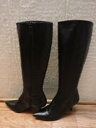 Cole Haan Black Leather Knee High Boots Women's Us 7b