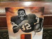 National Treasures Hall Of Fame 1971 Jersey Browns Jim Brown 24/25 2013
