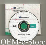 2009 Forester Xt Ll Limited Edition Navigation Dvd Mid-west Region Map + Canada