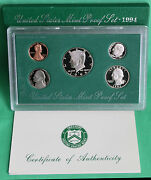 1994 S United States Mint Annual 5 Coin Proof Set Original With Box And Coa