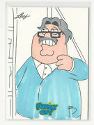 Peter Griffin Family Guy 2011 Leaf Seasons 3/4/5 Sketch Card By Bao Nguyen 1/1