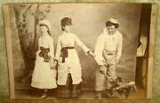 1860-80's Play Promotional Album Cabinet Card Cast Members Photograph