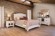 Crafters And Weavers Greenview Farmhouse Bedroom 4 Piece Set - White