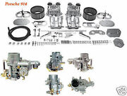 914 Dual Weber 44idf Carb Kit W/air Cleaners Porsche 914 And03970-and03975new