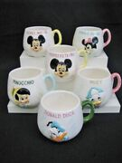 1950and039s Rare 6 Vintage Walt Disney Productions Cups 3d Characters Enesco Japan