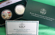 1998 Black Revolutionary War Patriots 90 Silver 2 Coin Proof And Unc Us Mint