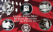2008 Us Mint Silver State Quarter Proof 5 Coin Only Set No Box Made In America