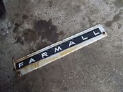 Farmall 706 Tractor Ih Ihc Front Left Hood Skirt White Panel And Emblem And Sp Bolts