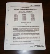 Aces Ii Ejection Seat Maint With Parts Catalog Flight Manual -original
