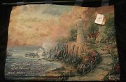 Official 36 X 26 Light Of Peace Tapestry Wall Hanging W/verse Thomas Kinkade