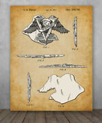 Poster - Harley 75th Anniversary Emblem Patent -choose Unframed Poster Or Canvas