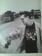 Morrissey The Smiths Accepts A Crisp In June 1986 From Music Mag 29x22cm