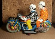 Rare Vintage Mettoy | 8.5 | Ou2 Clown Motorcycle | Works | Excellent Condition