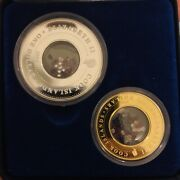 Rare Perth Mint Gold And Silver Locket Coins Real Ruby Diamonds And Sapphires Coa