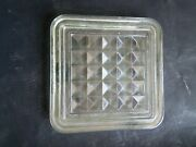 Antique Cut Glass Squire Tile Made In England Big Size 8.5 Inch